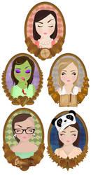 Bridesmaids Digital Illustrations by ponychops