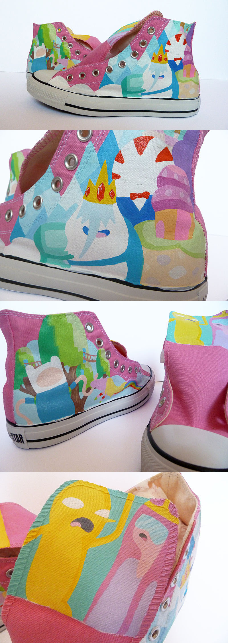 Work in Progress - The Land of Ooo Converse by ponychops
