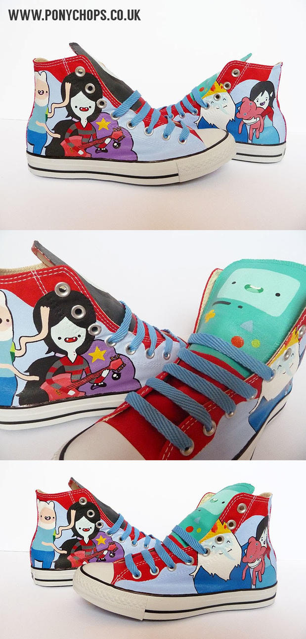 Marceline and Finn Converse by ponychops