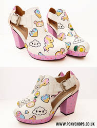 Tokidoki fan art shoes by ponychops