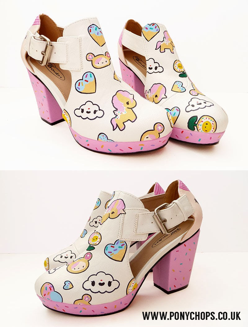 Tokidoki fan art shoes by ponychops