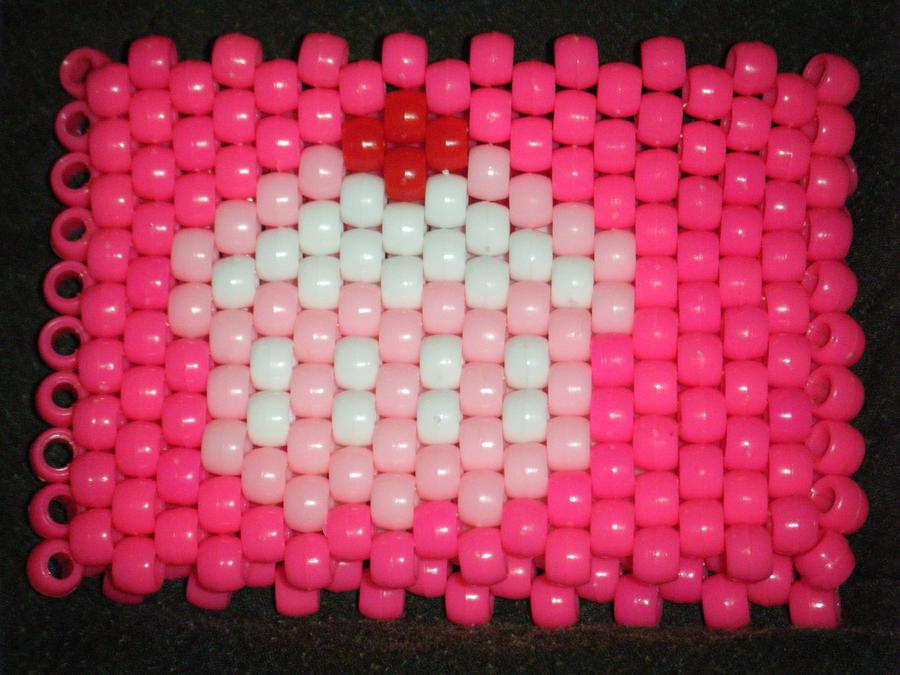 kandi:3 pink cupcake cuff by leggsXisXawsome