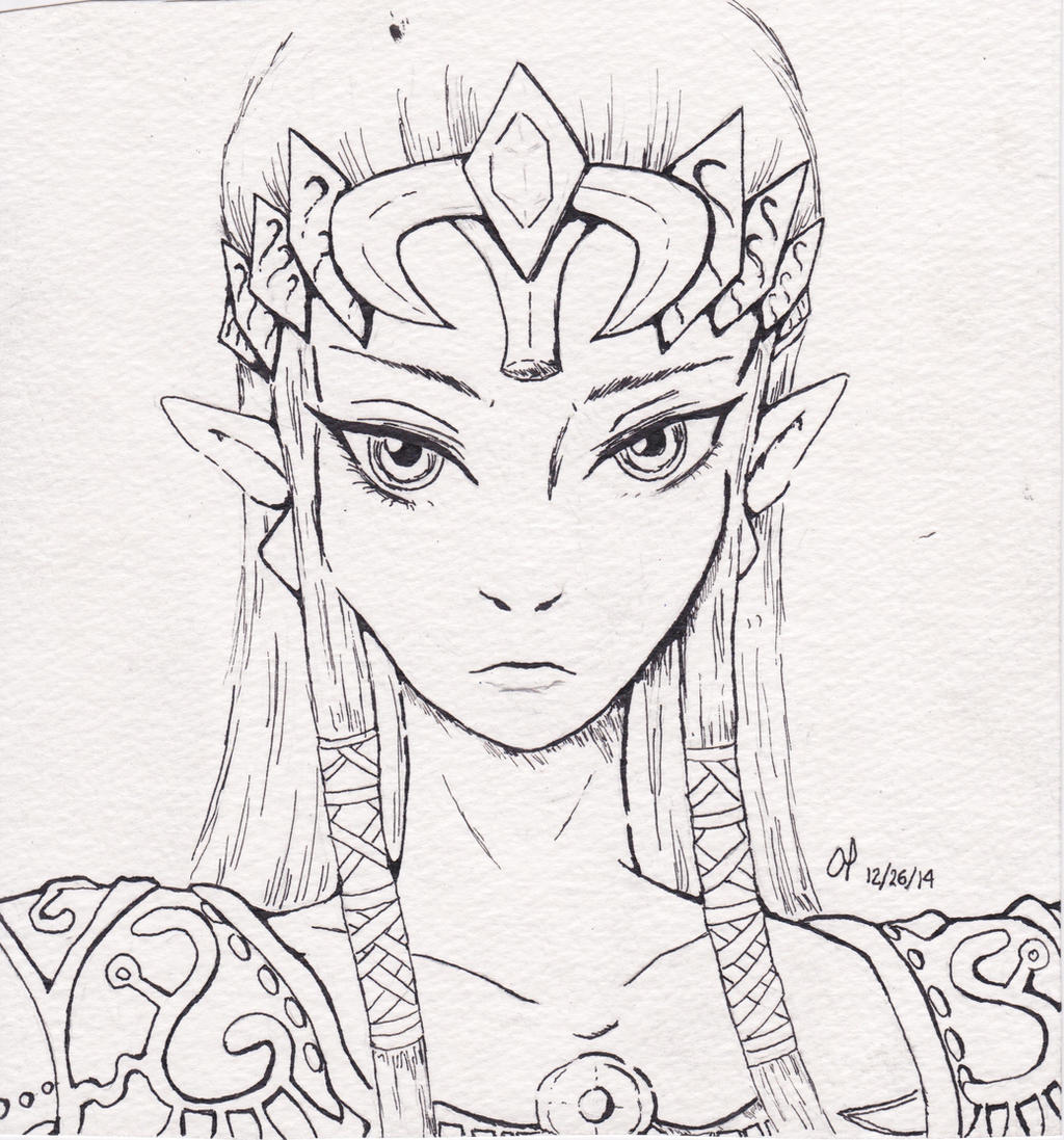 Line Art Zelda : Zelda line art by bleedingoleander on deviantart