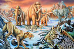 mammoths and sabertooth tigers
