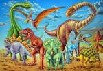 dinosaur charge by doodlebat72