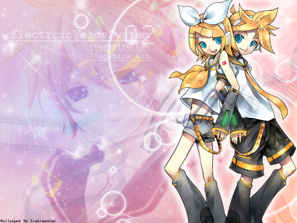Vocaloid Wallpaper: Len-Rin by shirotsuki-hack ...