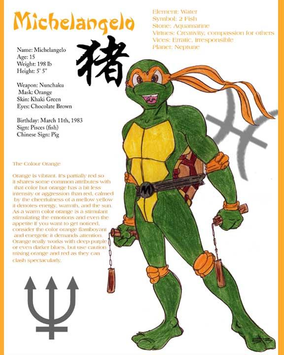 Michelangelo Tmnt Biography By Benvolieo On Deviantart