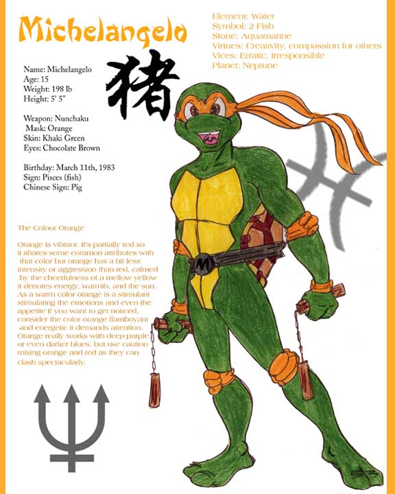 Michelangelo - TMNT Biography by Benvolieo on DeviantArt