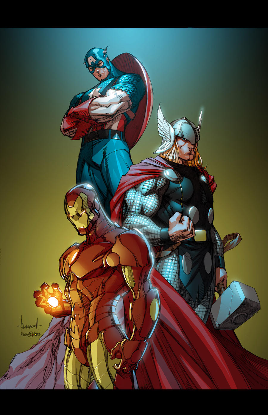 marvel guys by alegarza