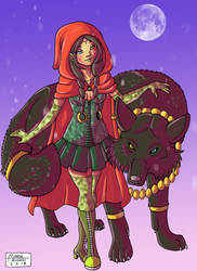 Little Red Riding Hood by RUNNINGWOLF-MIRARI