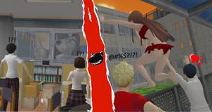 Visiting Friends at School by MegamiYonko