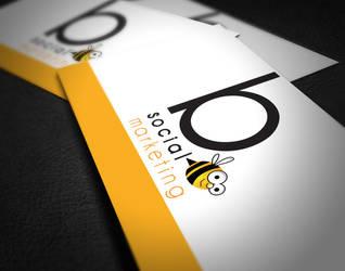 B Social Business Card + Cute Bee Logo by matt94gt