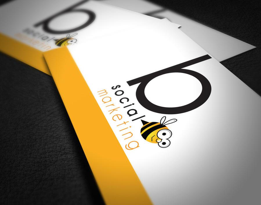 Cute Bee Logo Card Cute Bee Logo by