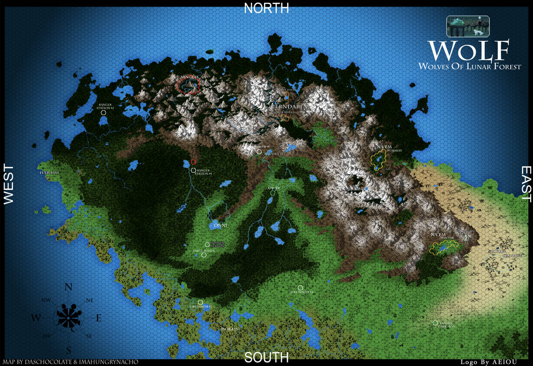 Wolves of Lunar Forest - Sanctuary Territory Map by Rangers-Of-WoLF