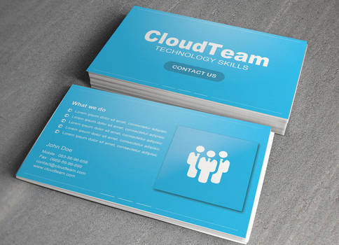 Cloud Team Business Card free PSD