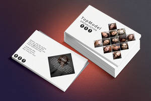 Photoshop free business card PSD TopModel