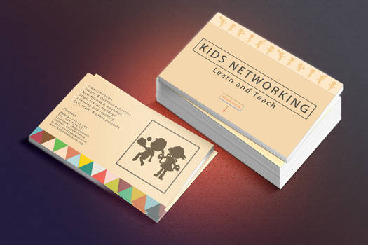 Kids Networking Business Card