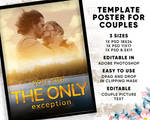 Template Poster for Couples, Beautiful Gift