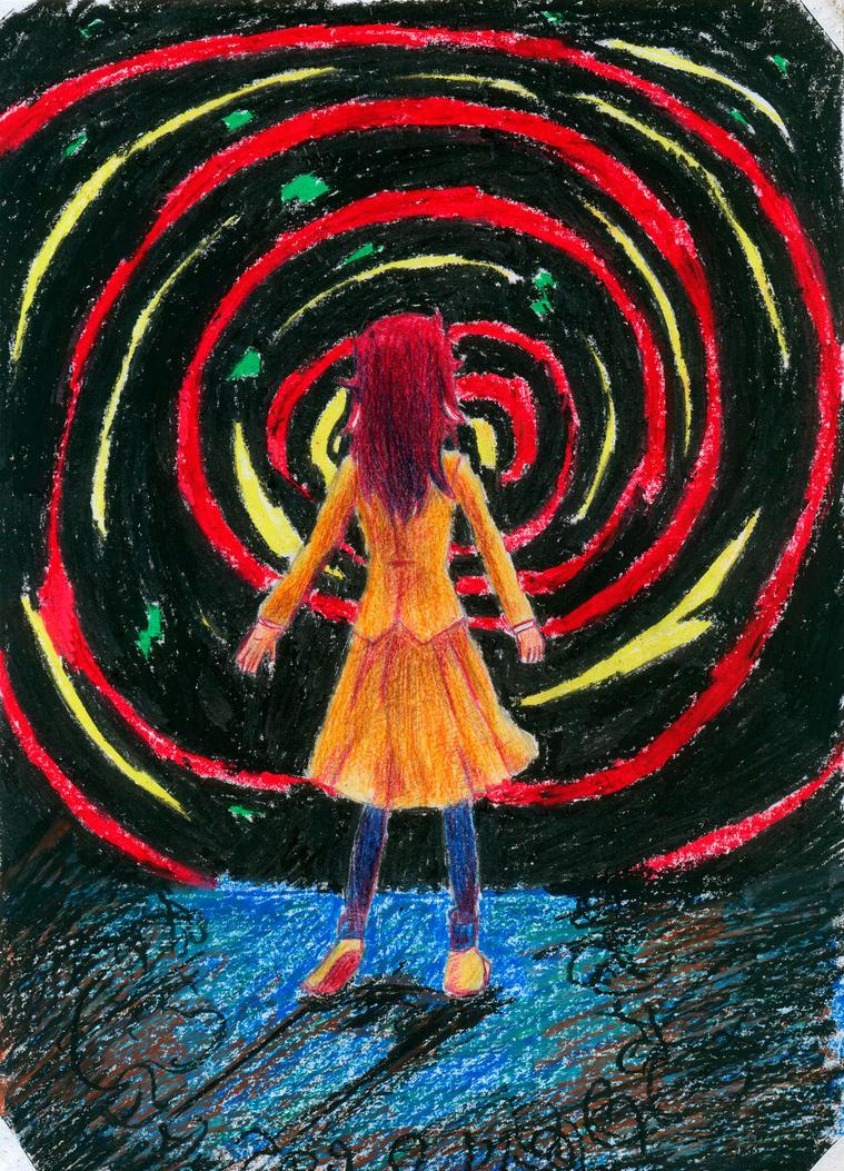 Tomoko atrapada en un vertigo mal dibujado by secretosycolores
