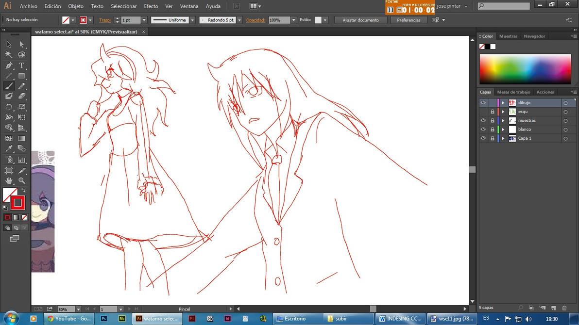 Tomoko una selector  drawing by secretosycolores
