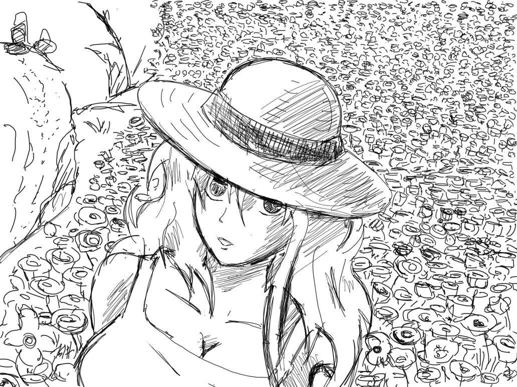 Nami flower  sketch by secretosycolores