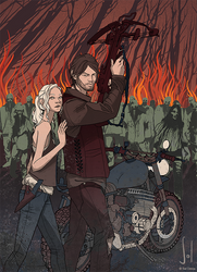 WALKING DEAD - Beth And Daryl by SolDevia