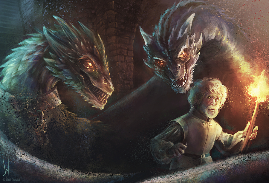Tyrion Lannister And The Dragons By SolDevia On DeviantArt