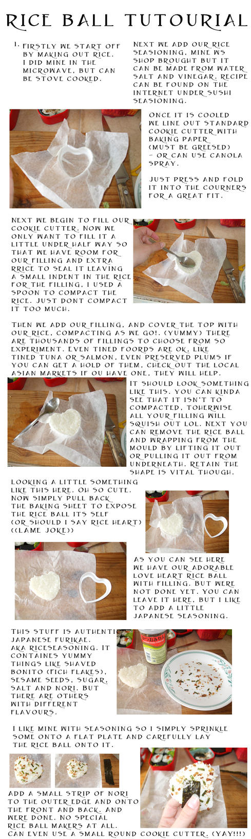 Cookie-cutter rice ball tutour by TheGreyPhoenix