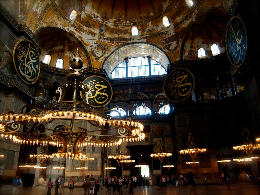 Interior of Hagia Sophia by jacobjellyroll