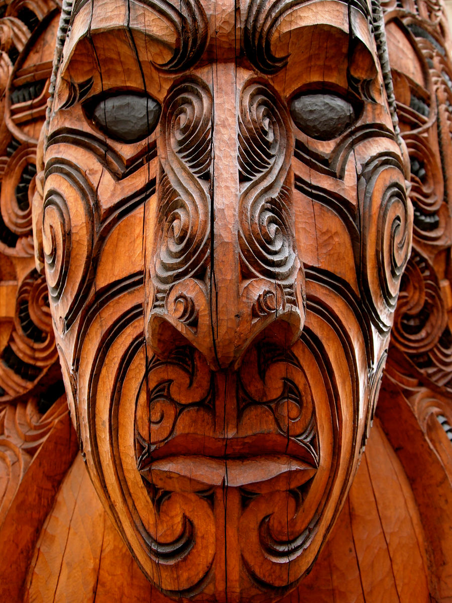 Maori wood carving by jacobjellyroll on deviantart
