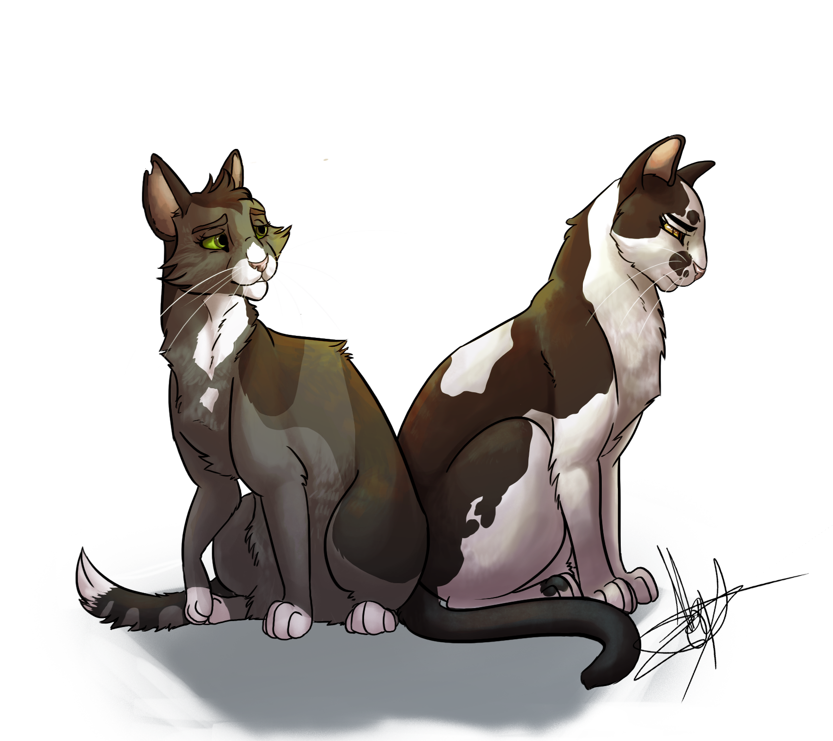 Warriors A Vision Of Shadows Free Download: Violetpaw And Twigpaw By Daisywolf13 On DeviantArt