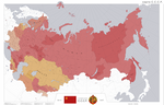 Red Triumph. Map of the Soviet Union.