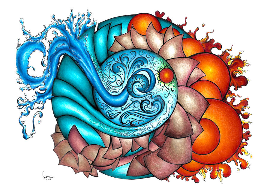 Slikovni rezultat za four elements drawing