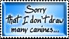 Sorry ... Stamp by suzidragonlady