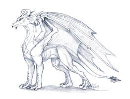Drakalette - Sketch by suzidragonlady