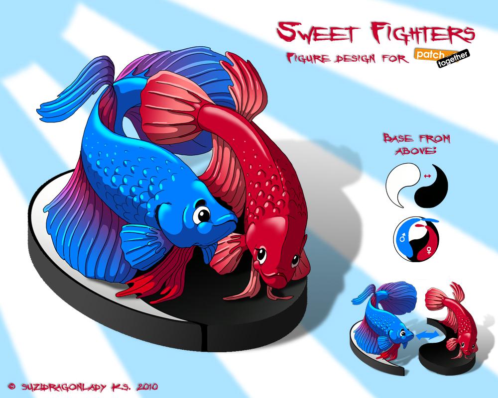 Sweet fighters figure design by suzidragonlady on deviantart for Kampffisch shop