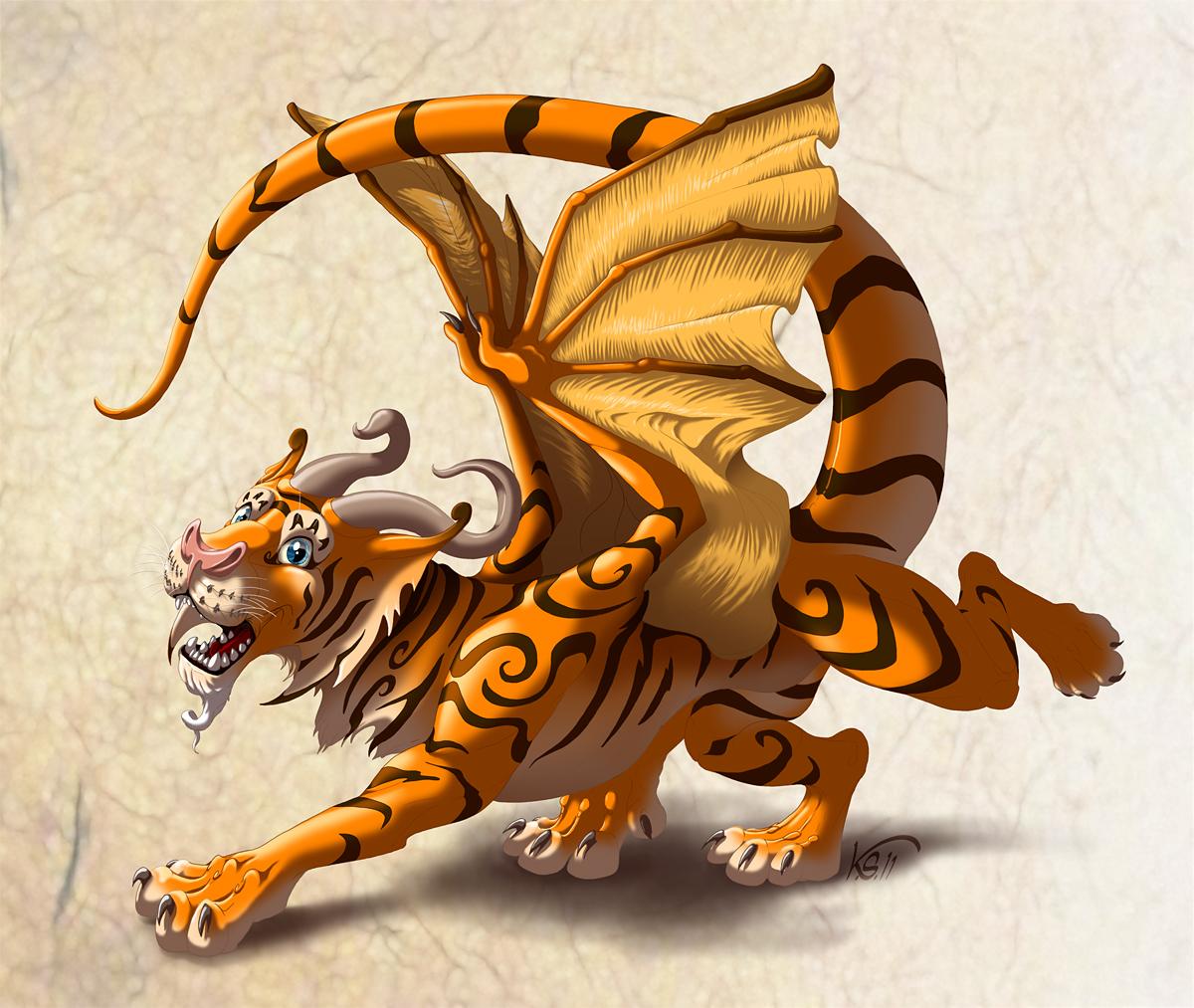 Lucky Tigrigon by suzidragonlady