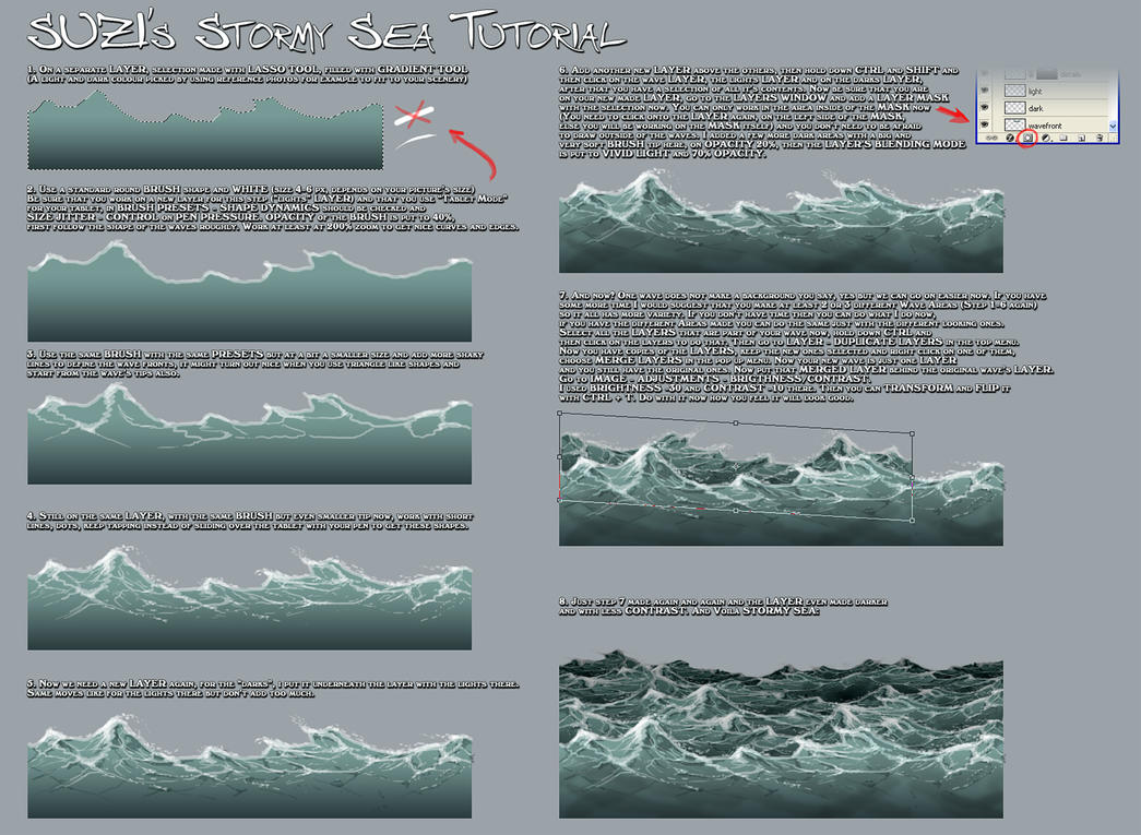 Stormy Sea Tutorial by suzidragonlady