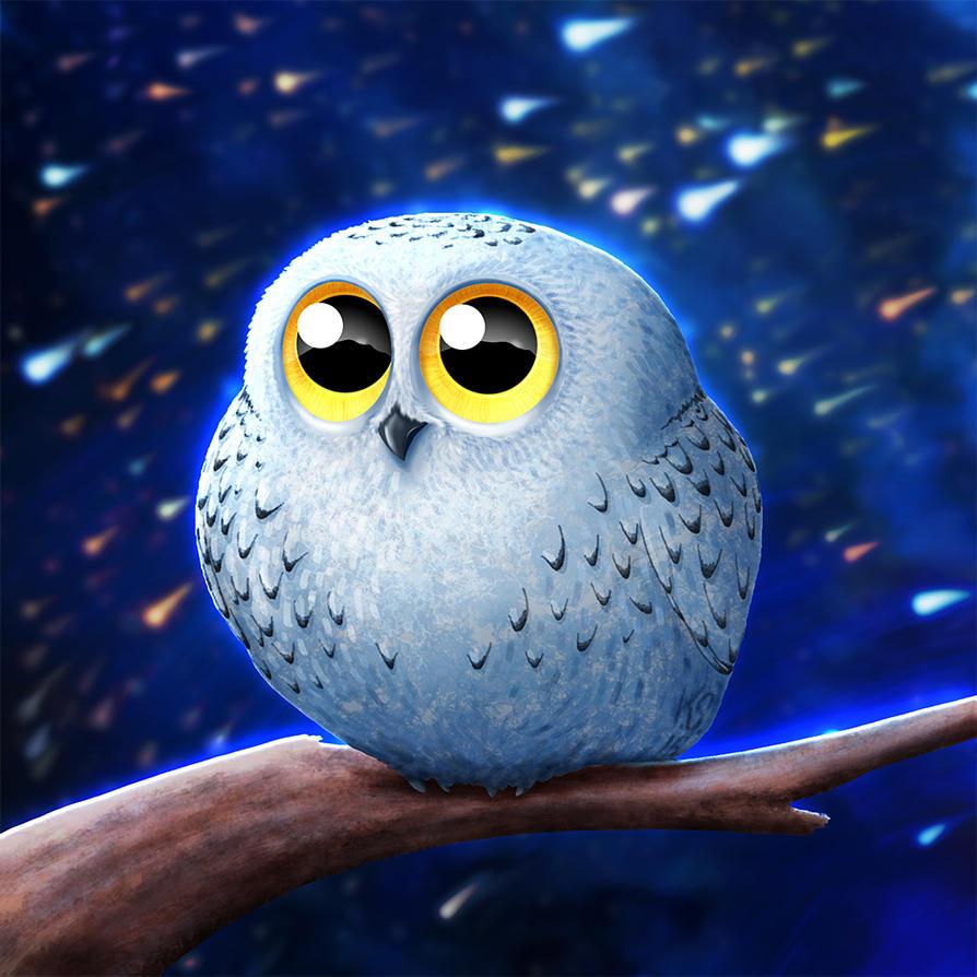 Snowy Owly by suzidragonlady