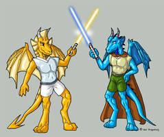 Dragoniade and DragonFan by suzidragonlady