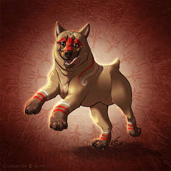 Bhaevi the Mabari by suzidragonlady