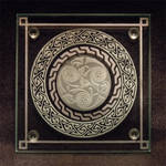 Celtic Spiral etched glass