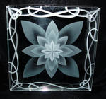 Lotus layerd etched glass