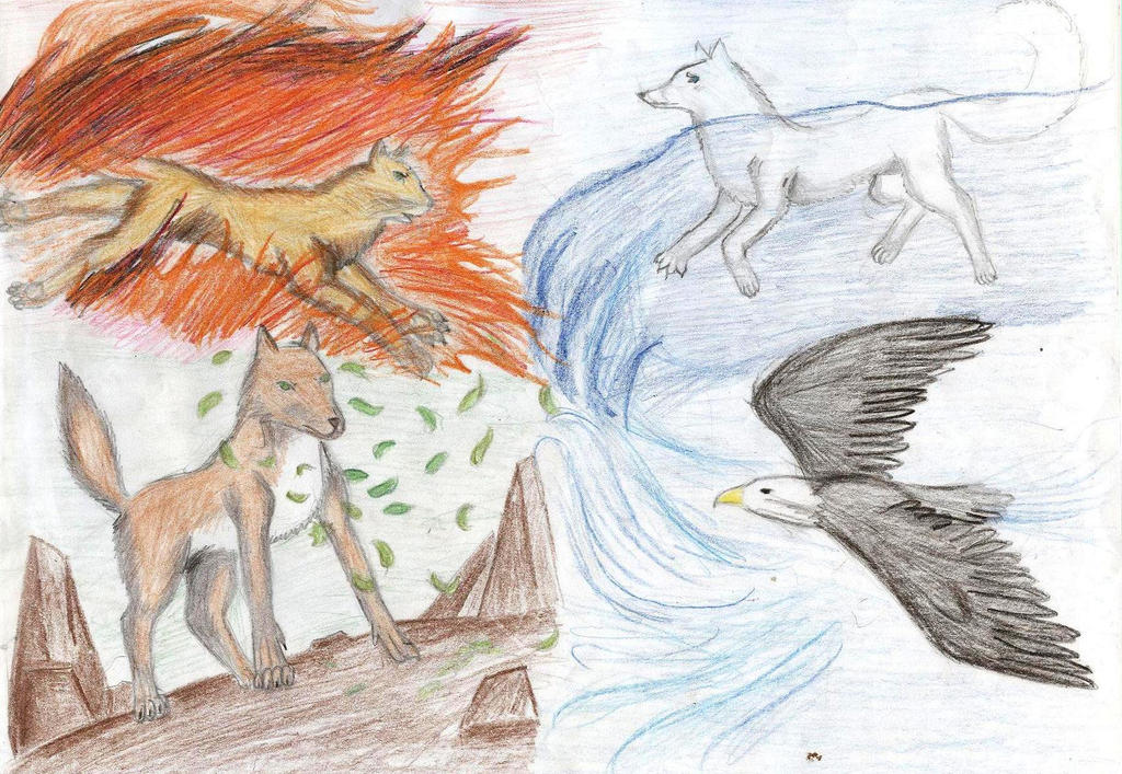 Four Elements Art : Four elements of nature by heartsoullifepassion on deviantart