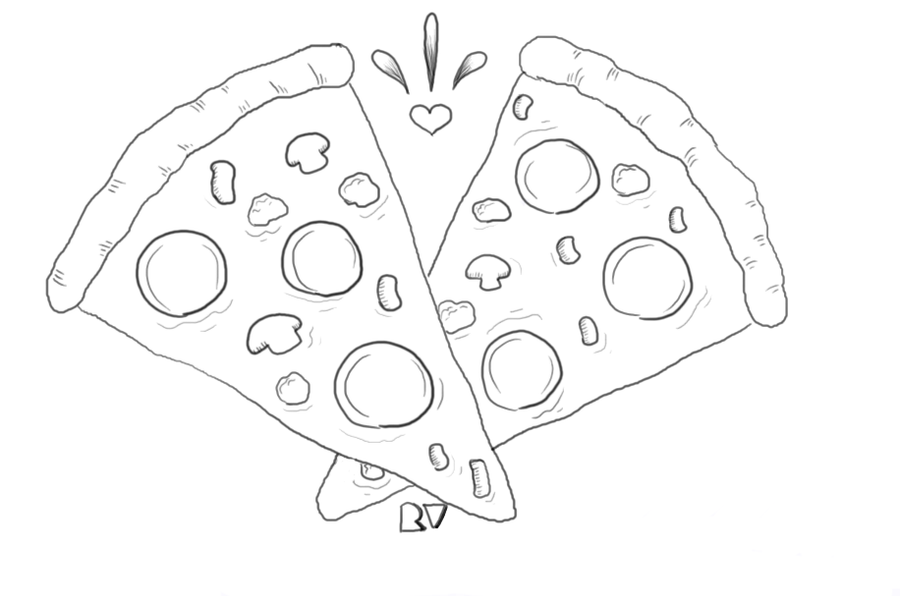 Image Result For Pizza Coloring Pages