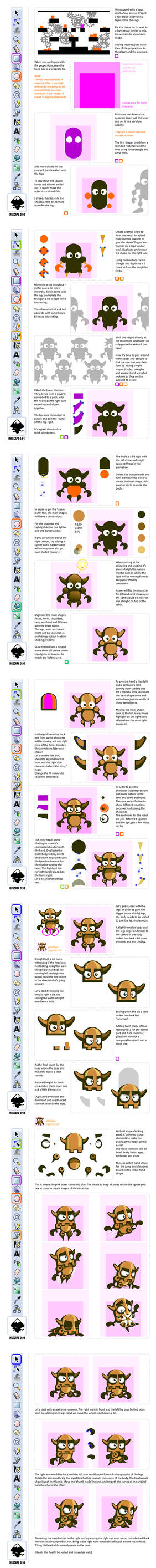2D game character creation in inkscape tutorial