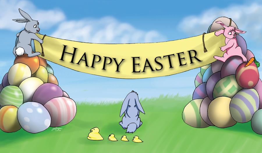 happy spring banner clip art - photo #42