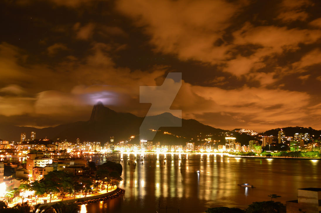 Rio De Janeiro At Night by SergioLang