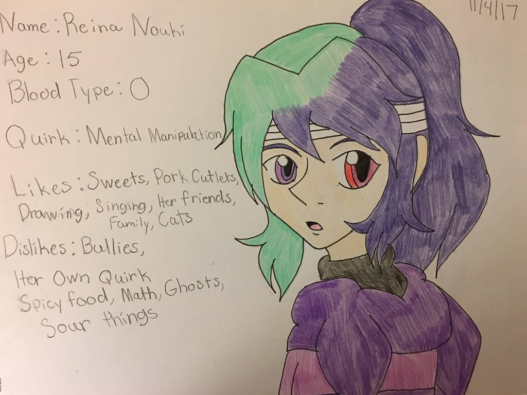 My Hero Academia Oc Reina Nouki By Tenshiwarrior On Deviantart
