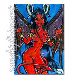 Ne'letia : Demoness #4 ACEO XR by NaughtyliciousArt